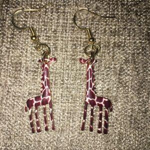Handmade Giraffe Earrings